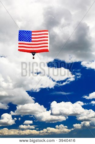 An American Flag Hot-Air Balloon