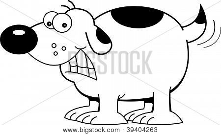 Cartoon dog wagging it's tail