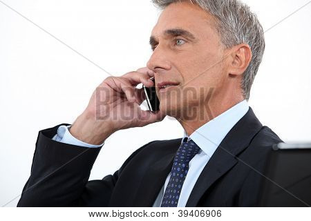 Chairman on phone