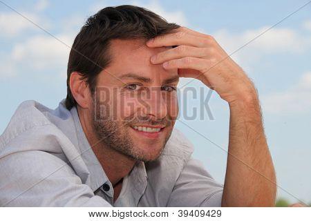 portrait of a pensive man
