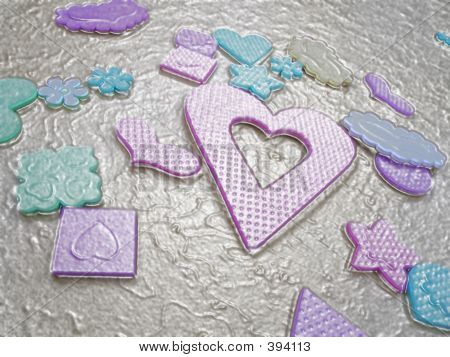 Wrapped Hearts And Flowers