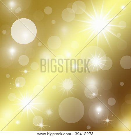 Abstract Golden Background With Shining Stars And Glitter