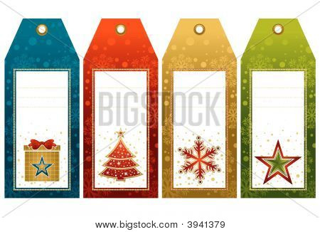 Christmas Labels, Vector