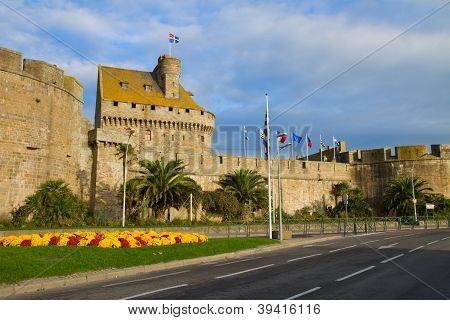 city walls of  St. Malo, France