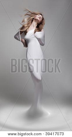 Creativity. Revival. Woman Aphrodite In Fantastic Pose - Fantasy