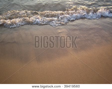 wave on a beach