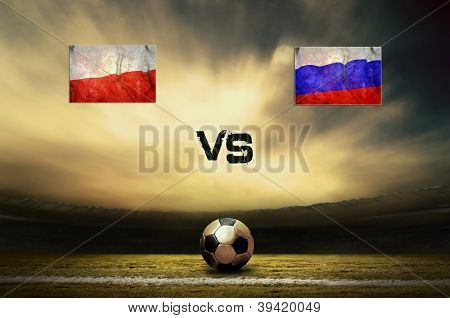 Friendly soccer match between Poland and Russia