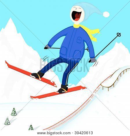 Ski-man
