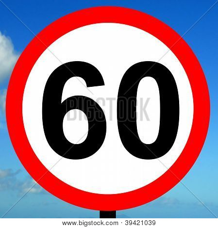 60 mph speed limit sign