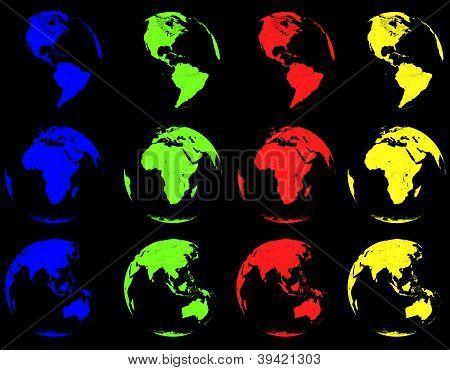 Earth Designs black Background
