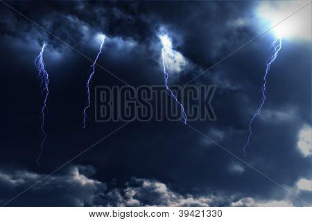 Thunderstorm Lightnings