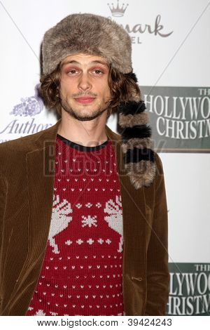 LOS ANGELES - NOV 25:  Matthew Gray Gubler arrives at the 2012 Hollywood Christmas Parade at Hollywood & Highland on November 25, 2012 in Los Angeles, CA