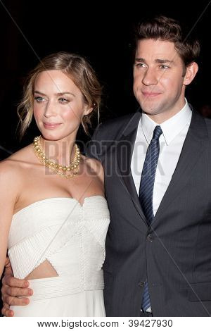 NEW YORK, NY - NOVEMBER 26: Actors John Krasinski and Emily Blunt attend the IFP's 22nd Annual Gotham Independent Film Awards at Cipriani Wall Street on November 26, 2012 in New York City