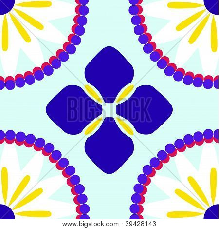 Iris Talavera Kalidescopic Flower Tile