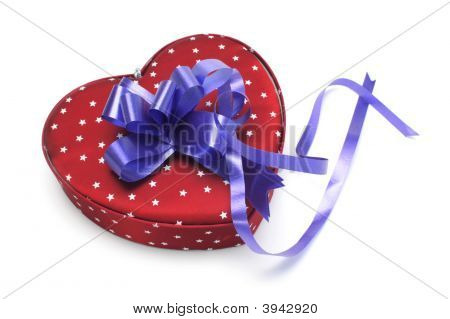 Blue Heart-Shaped Gift Box