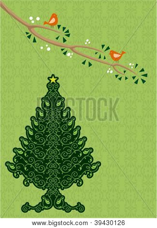 Christmas tree with Birds