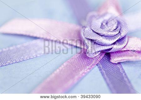 Gift Ribbon On Box