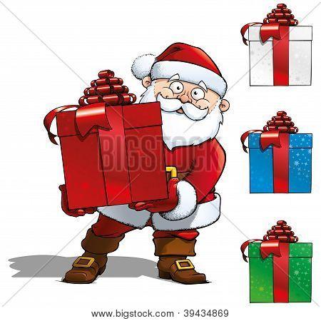 Santa With Big Gift.eps