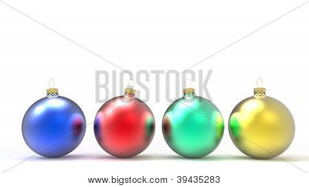 colorful christmas ornaments or baubles