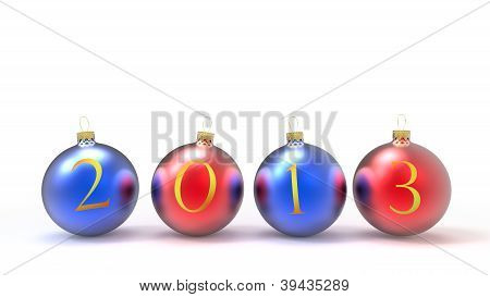 2013 new year christmas baubles