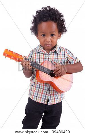 Little Chinese  Indian  With Guitar