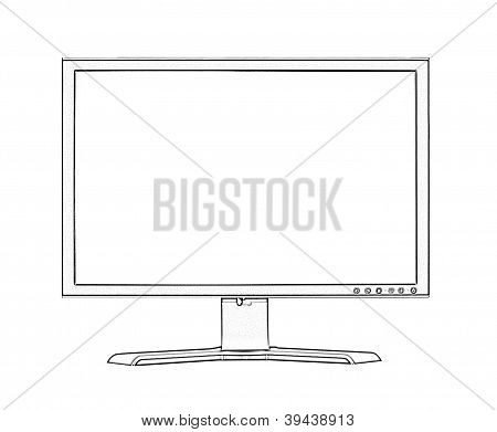 Illustoration Of Widescreen Monitor