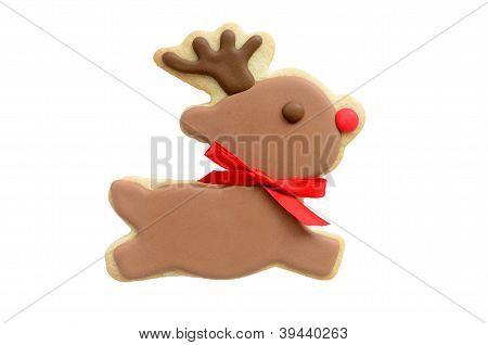 Rudolf Reindeer Cookie