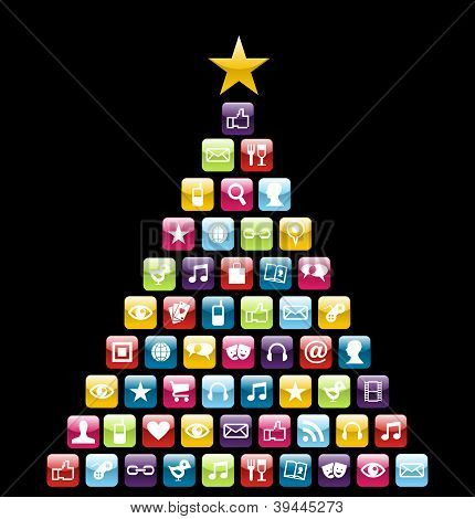 Multimeedia Icons Christmas Tree