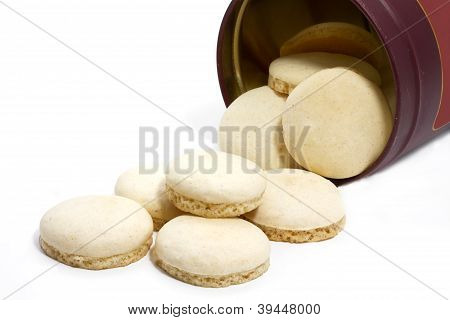 Aniseed christmas cookies on white background