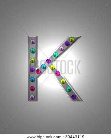 Alphabet Metall Festzelt kk