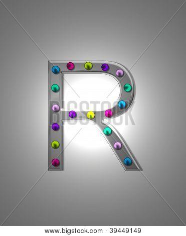 Alfabeto letreiro Metal Rr