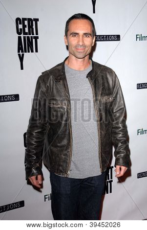 LOS ANGELES - NOV 27:  Nestor Carbonell arrives at the 'Certainty' Los Angeles premiere at Laemmle Music Hall on November 27, 2012 in Beverly Hills, CA