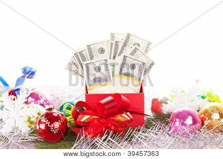 gift box with money