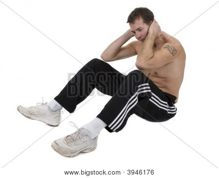 Athletic Male In Sweat Pants