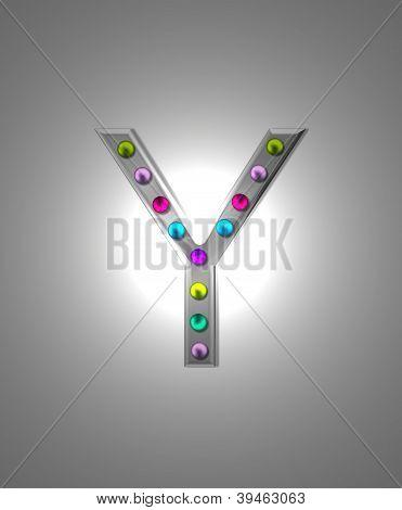 Alphabet Metal Marquee Yy