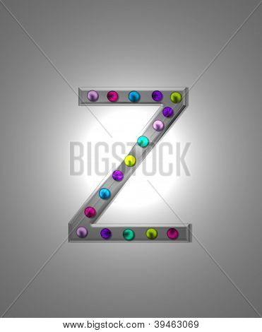 Alfabeto marquesina metálica Zz