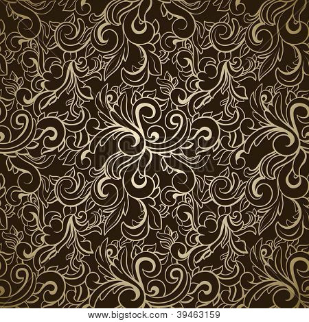 Abstract seamless pattern on dark background
