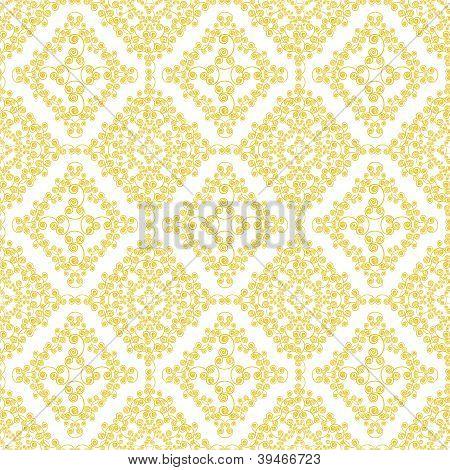 Abstract yellow swirls seamless pattern background
