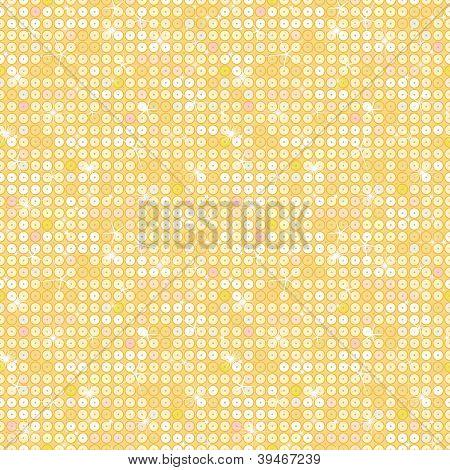 Golden sparkles seamless pattern background