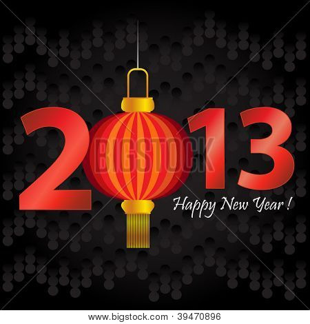 2013 Chinese New Year lantern greeting card or background.