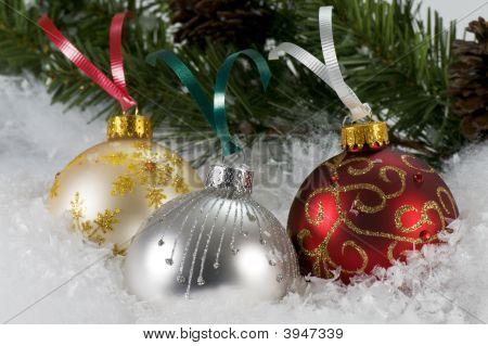 Shiny Christmas Ornaments