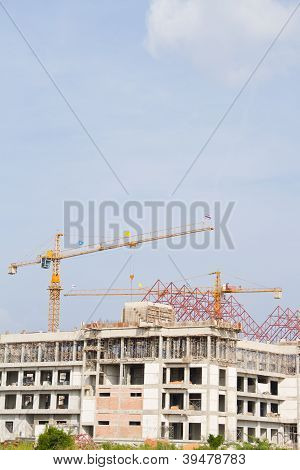 Construction crane at the construction site