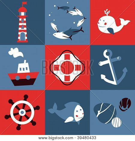 Vector Set With Nautical Design Elements