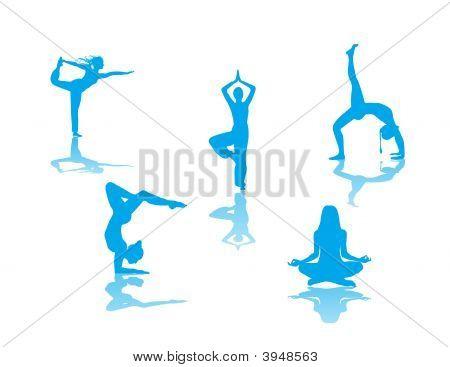 Yoga Poses Sillhouettes