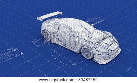 Blueprint Race Car