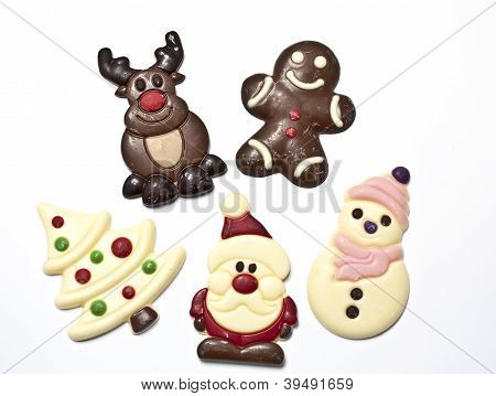 Christmas Figures Made In Chocolat