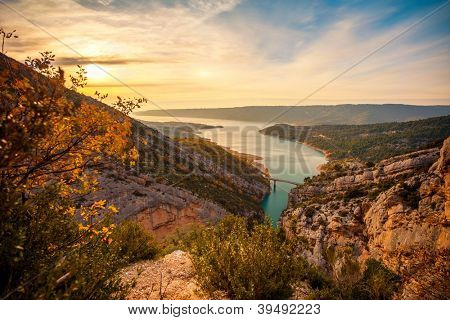 Beautiful view of Gorges du Verdon, France