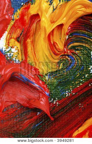 Постер, плакат: Художники абстрактная живопись маслом, холст на подрамнике