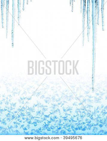 Icicles. Isolated over white