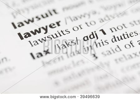 Macro Dictionary Word: Lawyer.